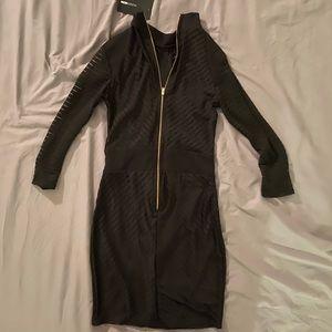 Fashion Nova maxi dress with long sleeves